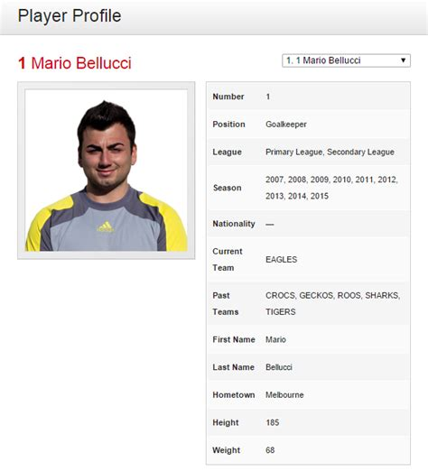 Soccer Player Profile Template by Football Club For Sportspress A Review Blogvault The