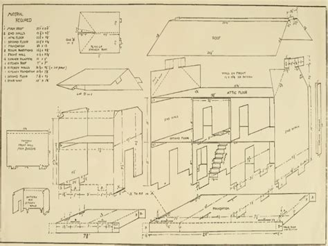 blueprints for houses doll house plan free country doll house free
