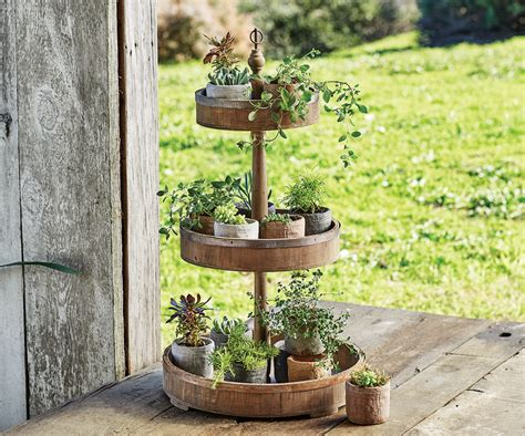 superb outdoor decor catalog 6 three tier wooden stand