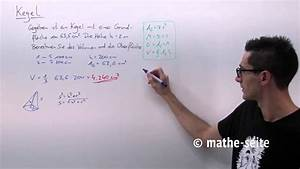 Kegelfläche Berechnen : kegel kegelvolumen kegelfl che mantelfl che berechnen beispiel 1 youtube ~ Themetempest.com Abrechnung