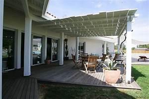 Decoration Terrasse En Bois : terrasse couverte en bois blanc deco decoration design architecture plancher jardin bois ~ Melissatoandfro.com Idées de Décoration
