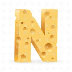 Cheese Font Letter N