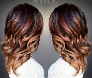 Ombré Hair Cuivré : ombre hair marron caramel la grosse tendance suivre ~ Melissatoandfro.com Idées de Décoration