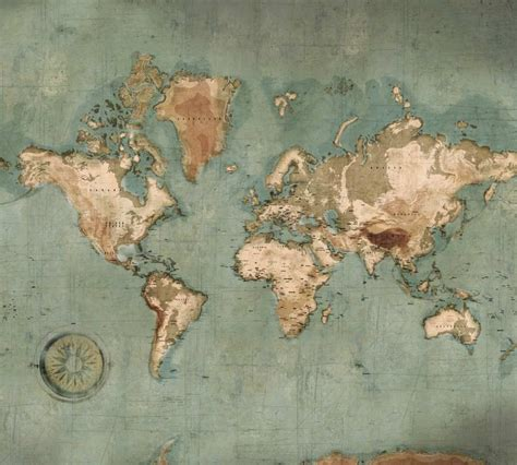 chambre vintage poster mappemonde vintage carte du monde géante