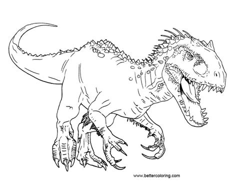Kleurplaat Indominus Rex by Jurassic World Coloring Pages Adominus Rex Free