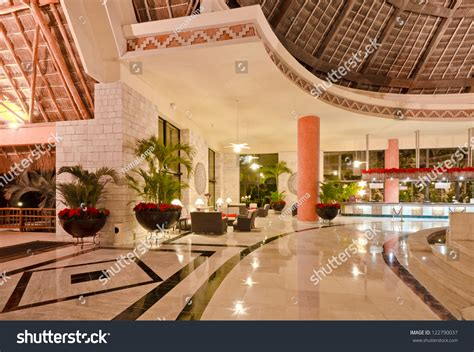 fragment lobby  stars luxury caribbean stock photo