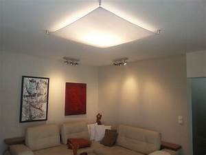 Deckenlampe Für Wohnzimmer : lampensegel f r indirekte wohnzimmerbeleuchtung beleuchtung pinterest lampen decke ~ Frokenaadalensverden.com Haus und Dekorationen