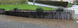 traverse bois jardin myqtocom With muret de soutenement jardin