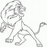 Lion Coloring Printable Angry 1nza sketch template