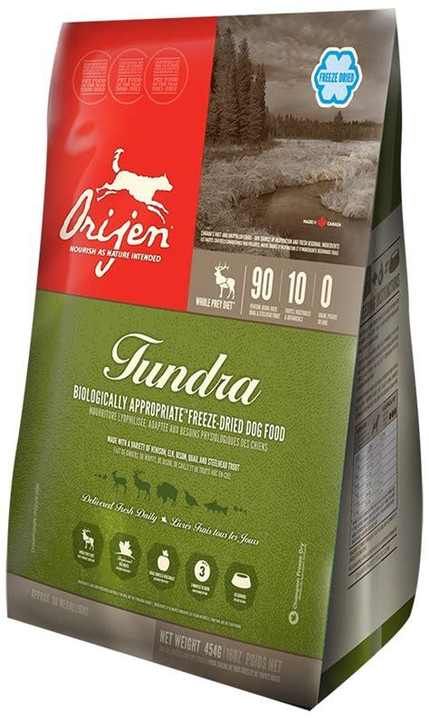 orijen nourriture pour chiens lyophilise tundra