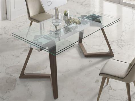 table a manger en verre trempe table 195 manger extensible avec plateau en verre tremp 195 169 mod nil