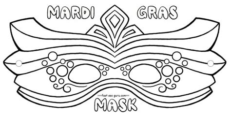 printable mardi gras mask coloring pages crafts  kids printable coloring pages  kids