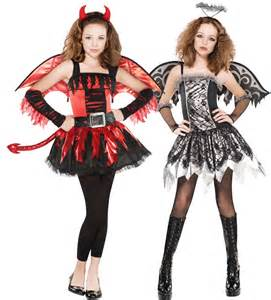 Angel and Devil Halloween Costumes for Teen Girls
