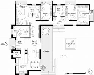 plan maison contemporaine toit plat ooreka With plan maison contemporaine en l