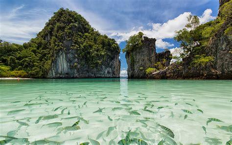 koh hong island thailand national sea park beach  hong island krabi transparent water exotic