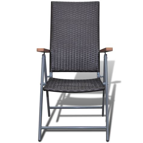 vidaxl co uk brown poly rattan garden furniture chair