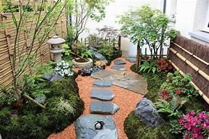 Cailloux Pour Cour : un d cor japonais dans un petit jardin l 39 ombre gamm vert ~ Premium-room.com Idées de Décoration