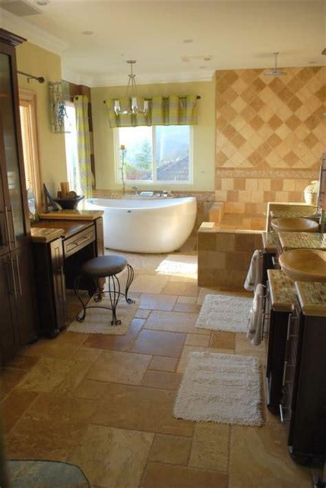 high end bath remodel of woodland estate