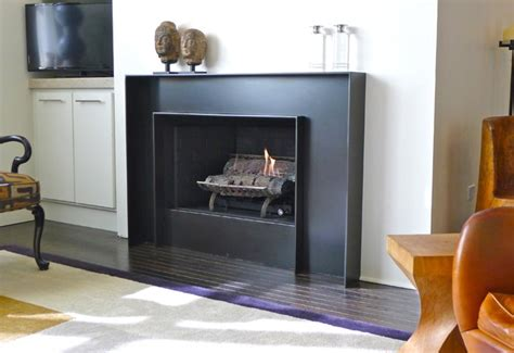 Fireplace mantel decorating ideas pictures, modern steel