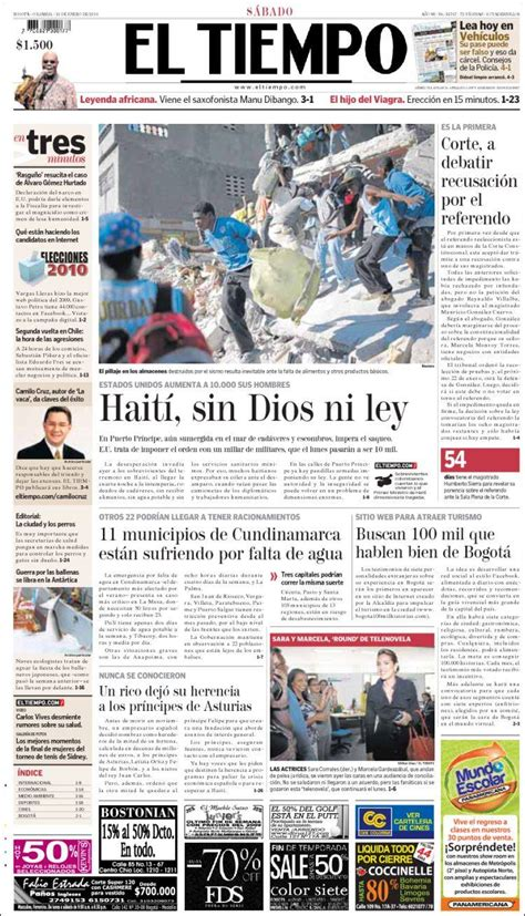 newspaper el tiempo colombia newspapers  colombia