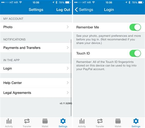 paypal finally adds touch id protection  iphone payment app