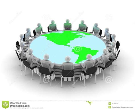 Round Table Discussion Stock Illustration. Illustration Of