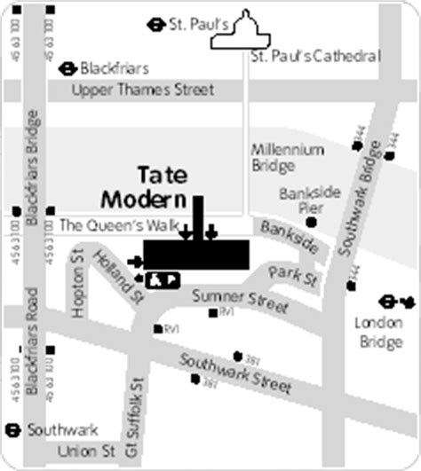 tate modern gallery map the national gallery