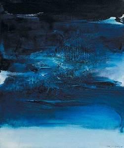 Reproduction Tableau Sur Toile : reproduction de zao wou ki blue composition ~ Teatrodelosmanantiales.com Idées de Décoration