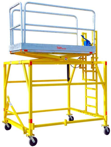 swivel casters aero b 5 maintenance platform stand 88 quot 135 quot 2 24m 3