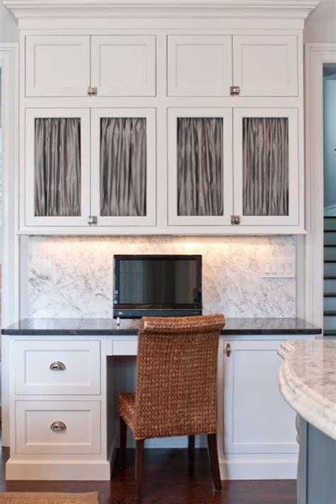 vintage kitchen cabinet office space in kitchen with crisp white shaker kitchen 3212