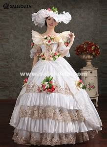 noble white lace embroidery marie antoinette wedding dress With marie antoinette wedding dress