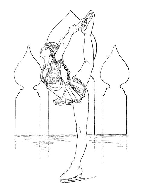 figure skater coloring pages    print