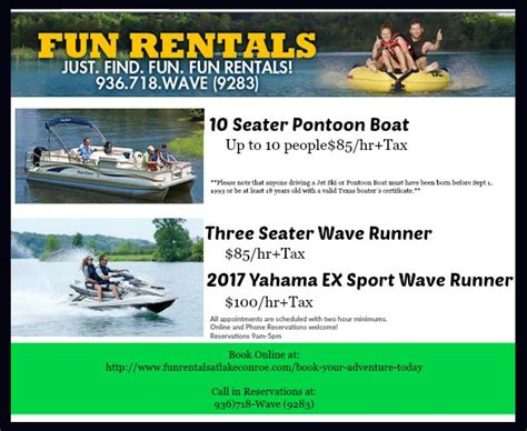 Boat Rentals For Lake Conroe by Boat Rentals Lake Conroe