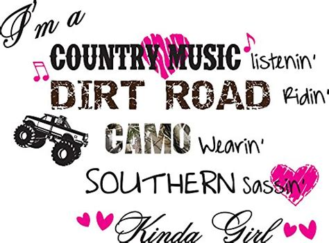 i m a country listenin country vinyl wall decals quotes sayings wall quotes