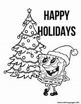 Coloring Christmas Pages Tree Spongebob Printable Colouring Info Pineapple Sheets Patrick Printables Sheet sketch template