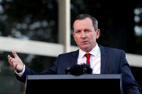 western australia palmer clive mark mcgowan denied locked entry down into speaks premier 7news wainwright aapimage richard credit