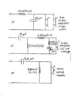 Lifier Wiring Diagram With Capacitor by 3 Way Crossover Speaker Circuit In 2018 Diy Audio