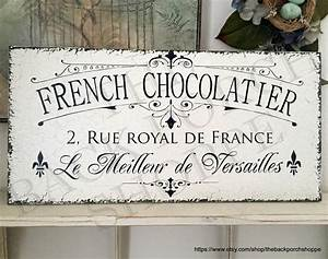 FRENCH CHOCOLATIER CHOCOLATE Signs French Candy Maker Sign