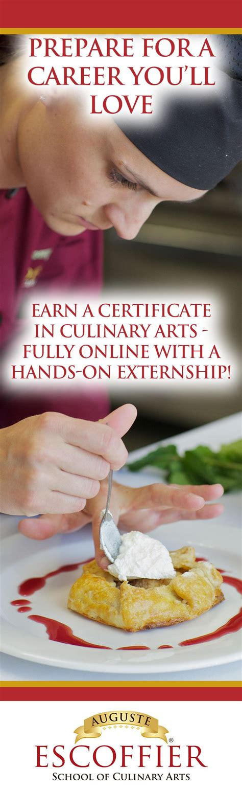 offer    accredited culinary certificate