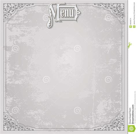 Empty Menu Templates by Menu Design Template Stock Illustration Illustration Of