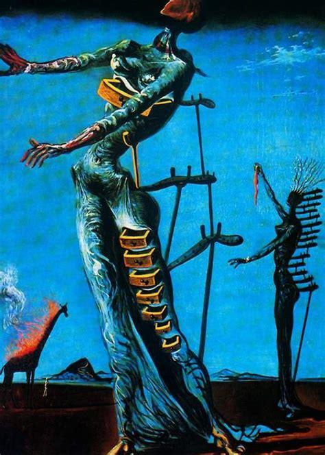 burning giraffe  dali universe