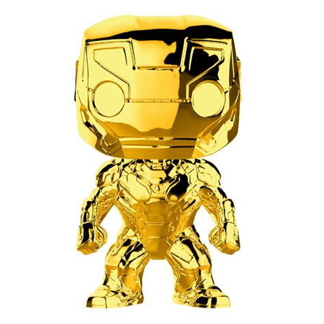 marvel ms  iron man gold chrome pop vinyl figure