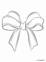 Coloring Bows Pages Printable sketch template