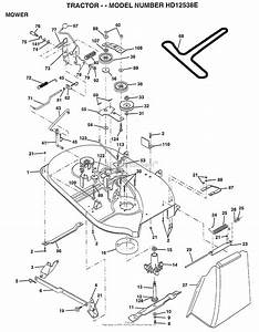 Ayp  Electrolux Hd12538e  1998  Parts Diagram For Mower