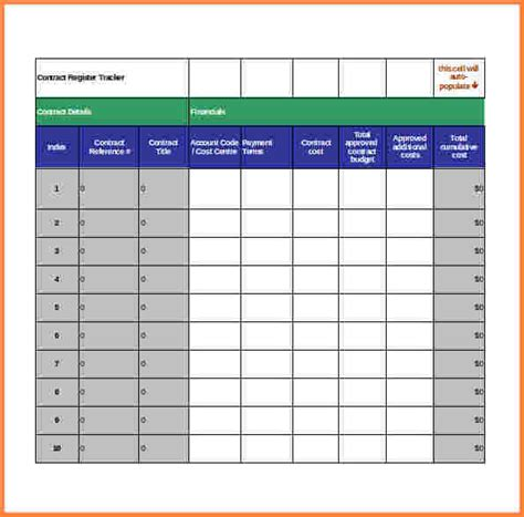 contract tracking spreadsheet excel spreadsheets group