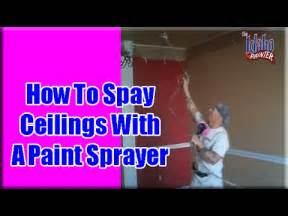 spraying ceilings with an airless sprayer painting