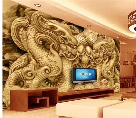 wallpaper  room wall  wallpaper wood carved dragon