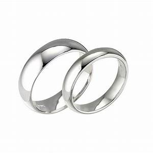 his hers 18ct white gold wedding rings 2mm 5mm d With his and hers white gold wedding rings