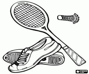 badminton coloring pages - racquet sports coloring pages printable games