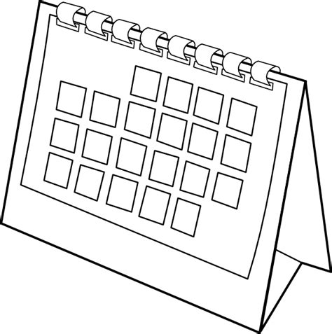 schedule clipart black and white calendar clip at clker vector clip
